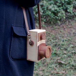 wooden handbag