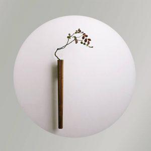 wood wall vase