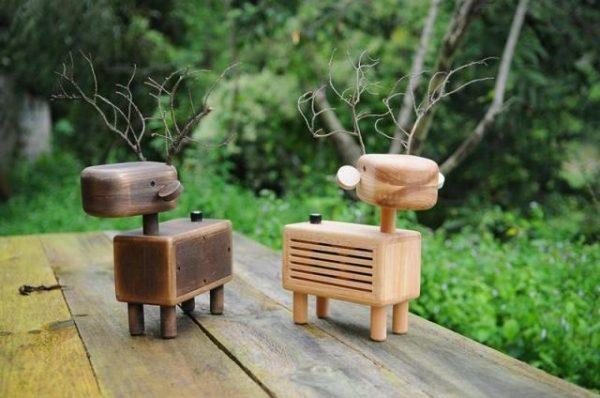 handmade wooden speakers