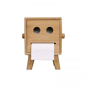 wooden tissue holder