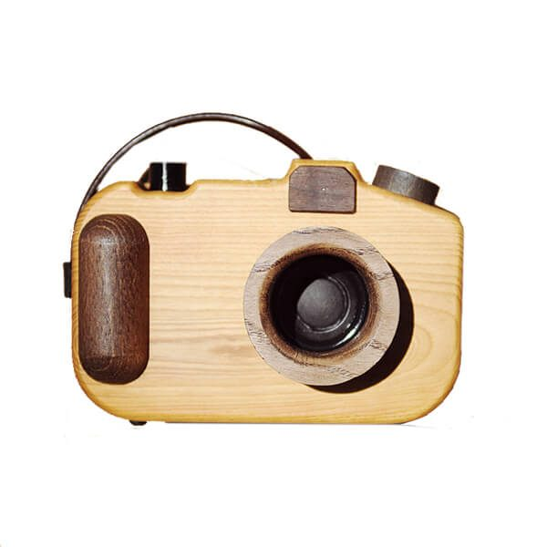 wooden stereo speakers