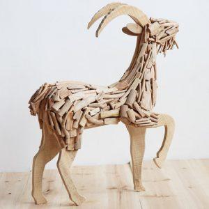 wooden goat