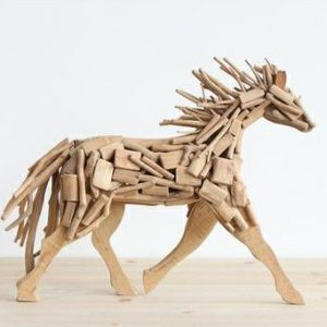 large wooden animals
