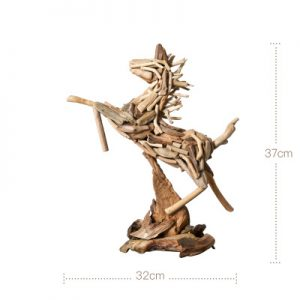 small wooden horse
