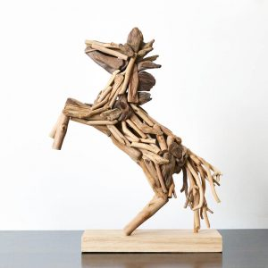 wooden horse decor