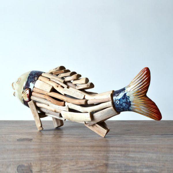 wooden fish ornaments