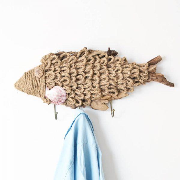 hanging wooden fish
