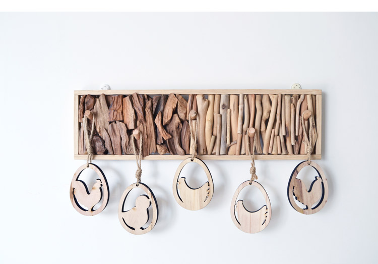 wooden wall stand