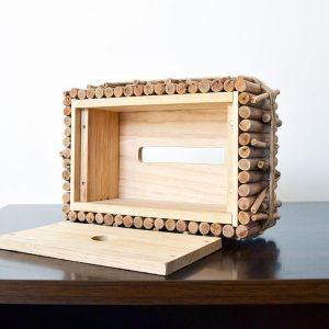 wooden tissue box holder