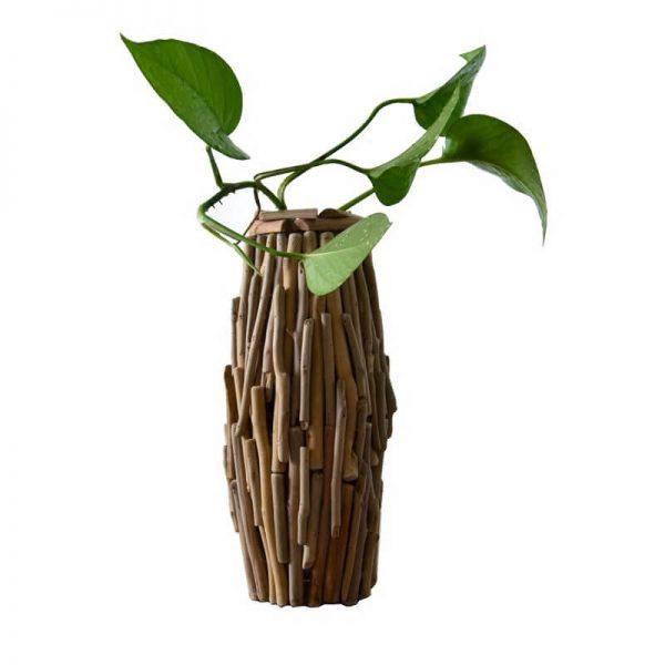 decorative wooden vase