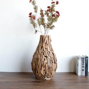 wooden vase online