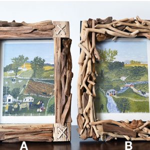natural wood picture frames
