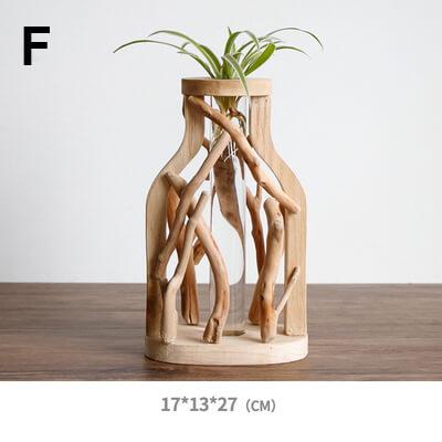 small wooden flower pots