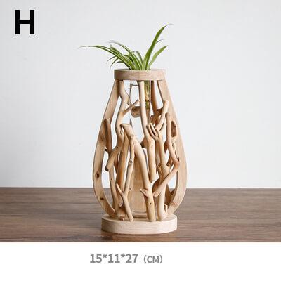 wooden flower holder