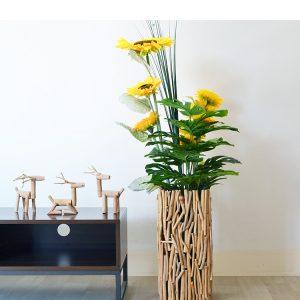 wooden flower pot (1)