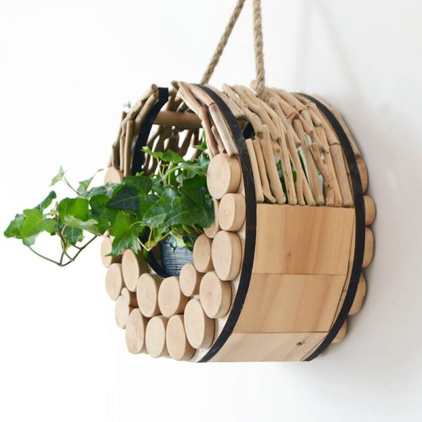 wooden plant containers