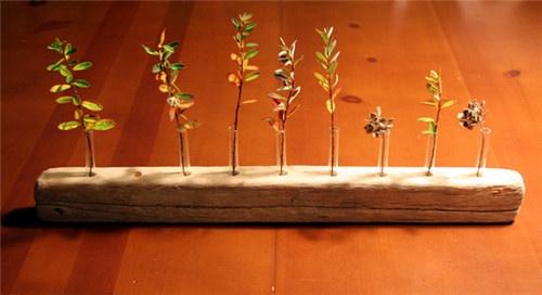 wooden plant pot holder