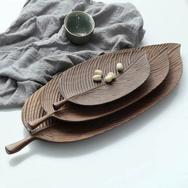 wooden platters for food