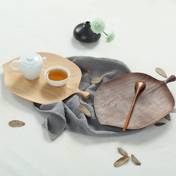 wooden salad plates (2)